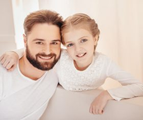 Father and daughter photo Stock Photo