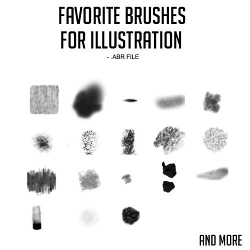 Favorite Photoshop Brushes set