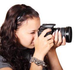 Female photographer to capture Stock Photo 01
