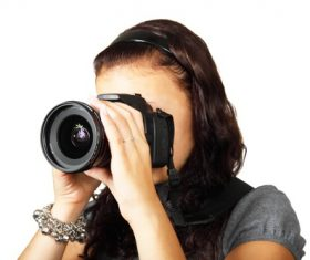 Female photographer to capture Stock Photo 02