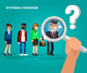 Flat business people design vector 07
