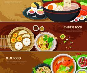 Flat food illustration vector