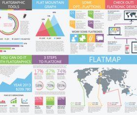 Flat graphics micro stock infographic vector