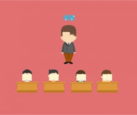 Flat manager supervision office vector
