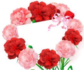 Flower frame with blank card vector