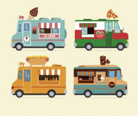 Food vending vehicle vector
