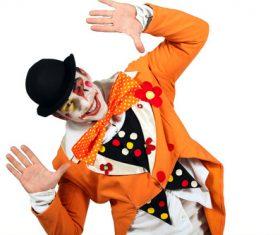 Funny clown show Stock Photo