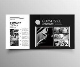 garment company brochure template black styles vector 04