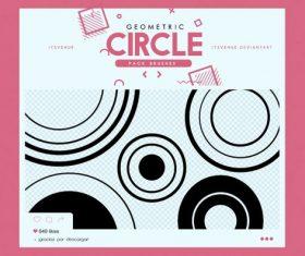 Geometric Circle Photoshop Brushes