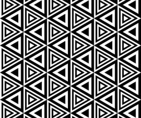 Geometry black with white seamless pattern vector 01