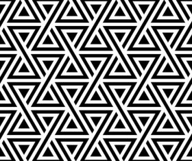 Geometry black with white seamless pattern vector 02