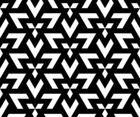 Geometry black with white seamless pattern vector 03
