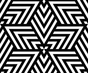 Geometry black with white seamless pattern vector 04