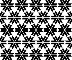 Geometry black with white seamless pattern vector 05