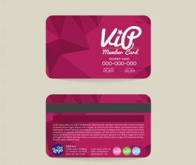 Geonetric shape member card template vector