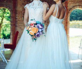 Girlfriend wedding photos Stock Photo
