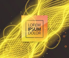 Golden abstract lines modern background vector 05