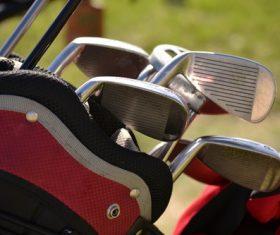 Golf clubs Stock Photo