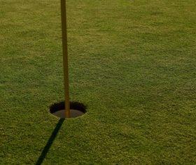 Golf hole Stock Photo
