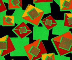 Green Square Embossed pattern Stock Photo