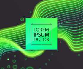 Green abstract lines modern background vector 02