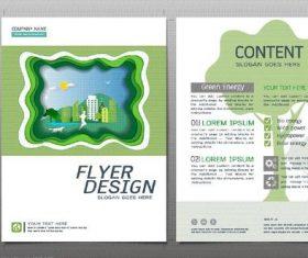 Green city flyer design template vector 01