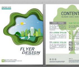 Green city flyer design template vector 02