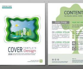Green city flyer design template vector 03