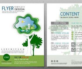 Green city flyer design template vector 05