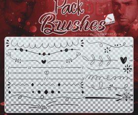 Hand drawn borders Photoshop Brushes