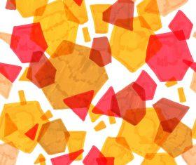 Hand drawn polygonal pattern vector 01