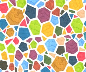 Hand drawn polygonal pattern vector 02
