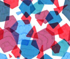 Hand drawn polygonal pattern vector 03