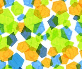 Hand drawn polygonal pattern vector 04