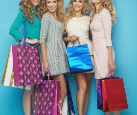 Hand holding shopping bags women posing Stock Photo 01