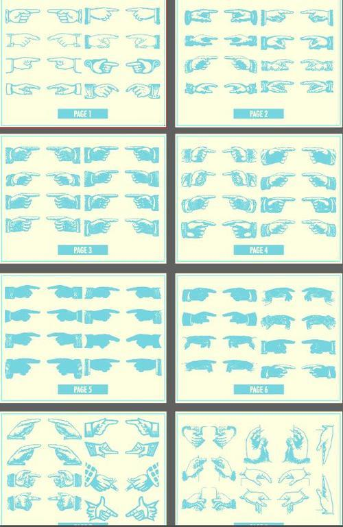 Hands gesture vector illustration