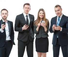 Holding a cell phone Business People Stock Photo