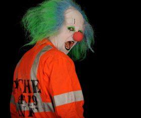 Horror clown Stock Photo 01