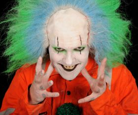 Horror clown Stock Photo 02