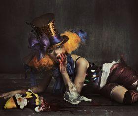 Horror of terror clown Stock Photo
