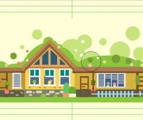 House flat cartoon vector