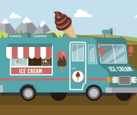 Ice cream car illustration
