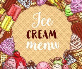 Ice cream menu design vector
