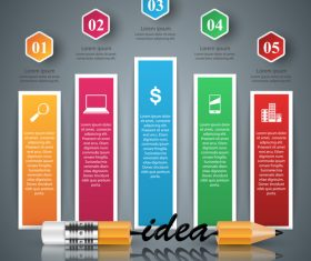 Idea with colored infographic template vector