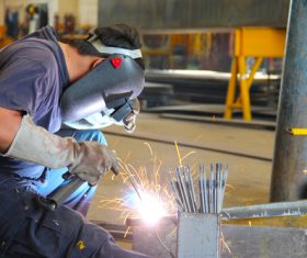 Industrial Welder Stock Photo 01