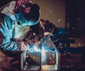 Industrial Welder Stock Photo 02