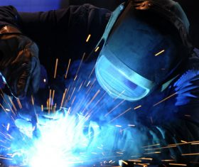 Industrial Welder Stock Photo 04