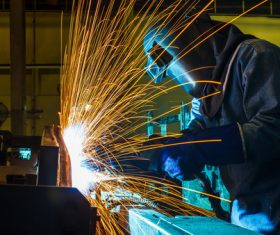 Industrial Welder Stock Photo 05