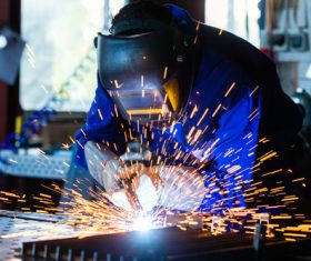 Industrial Welder Stock Photo 06