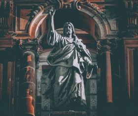 Jesus Christ sculpture inside church Stock Photo